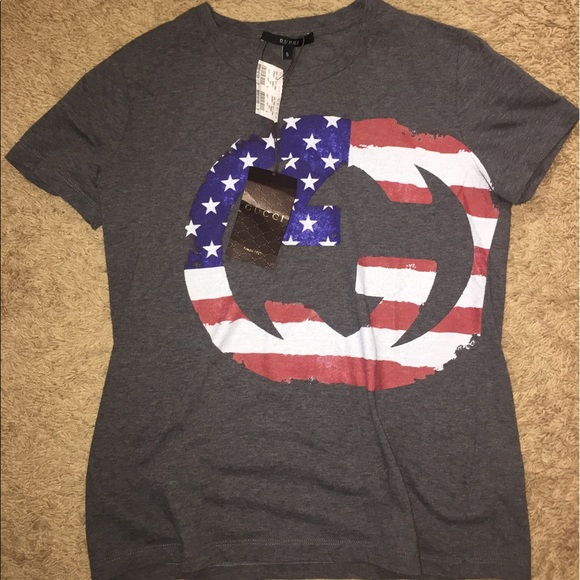 1480a9d8638938 Gucci American Flag Double G Tee