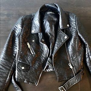 Members Only Vegan Black Leather Jacket