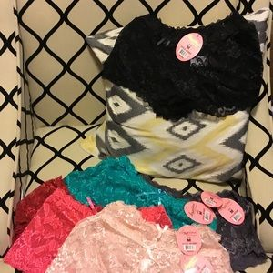 Angelina Other - Lace boy shorts panties size M lot of 10