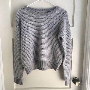 Banana Republic Gray Crewneck Knit Sweater