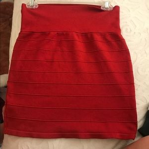 Dresses & Skirts - Red pencil skirt large