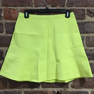 J.Crew Neon Fluted Mini in Double Crepe, like new!