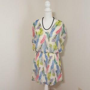 Pretty Rebellious Dresses & Skirts - Pretty Rebellious | Feather Print Dress