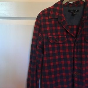 Jackets & Blazers - Red flannel! Men's XS, fits as a women's Small!