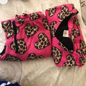 Other - Pink cheetah pajama set