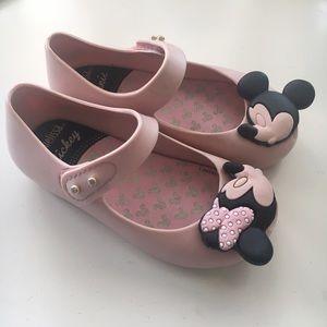 Mini Melissa Other - Mini Melissa Sz 7 Disney Mickey & Minnie Mary Jane