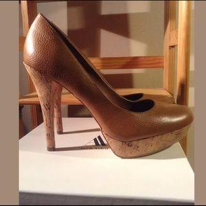 Ava & Aiden Shoes - Ava & Aiden Cognac Cork Pumps - Maxine - New