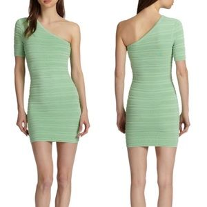 Torn by Ronny Kobo Dresses & Skirts - Torn by Ronny Kobo Mint One Shoulder Dress