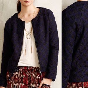 Anthropologie Jackets & Blazers - Anthropologie Madeline Floral Lace Sweater Bomber
