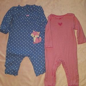 Carter's Other - 🐘Baby Girl 6M Body Suits Bundle
