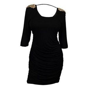eVogues Dresses & Skirts - NWOT eVogues Plus Size Open Back Studded Shoulder