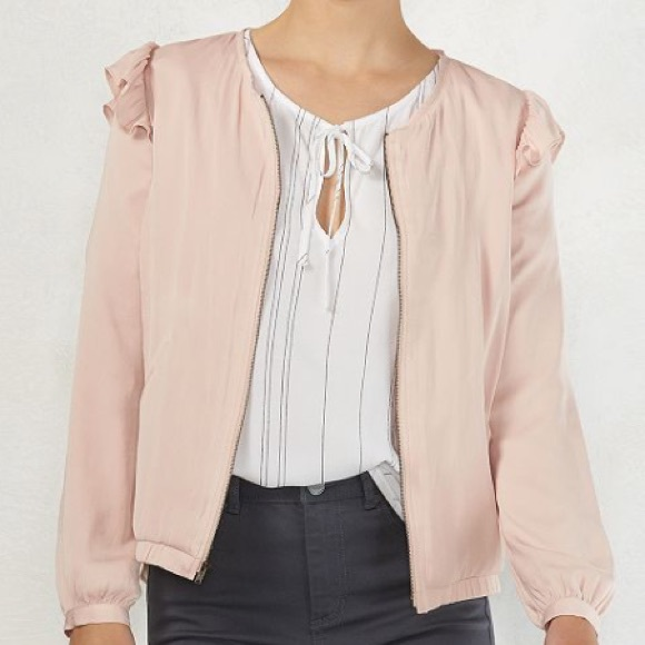 2daa657ea9e19 LC Lauren Conrad Jackets & Coats   Nwt Lauren Conrad Blush Ruffle ...