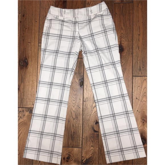 New York & Company Pants - White Bootleg Trousers 7th Ave Studio Design