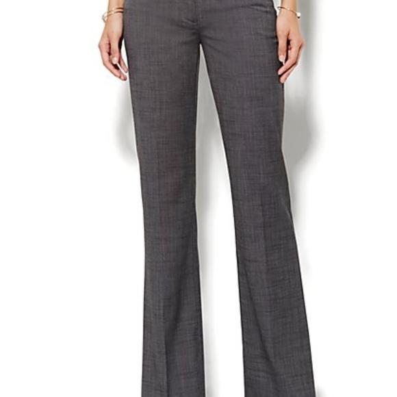 New York & Company Pants - White Bootcut Slacks 7th Ave Studio Design