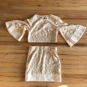 ShowPo Other - Nude/Pink Lace 2 piece set