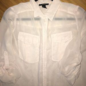 Forever 21 Tops - 8/$25 forever 21 size small sheer cream 3/4 blouse