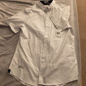7 Diamonds Other - Collared white shirt with pattern