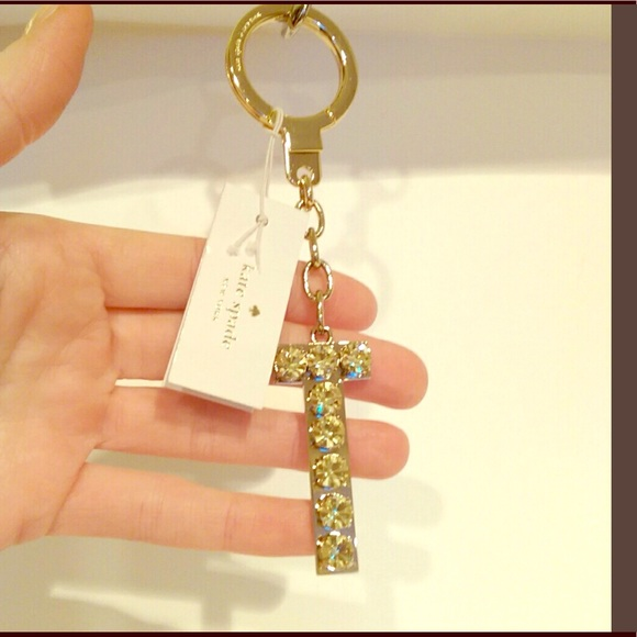 New Kate Spade T Initial Keychain NWT