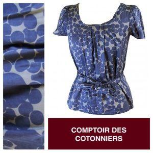 Anthropologie Tops - Anthro Comptoir de Cotonniers cotton patterned top