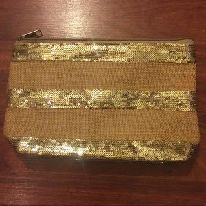 Handbags - 🆕Muche Et Muchette Jute Sequin Clutch