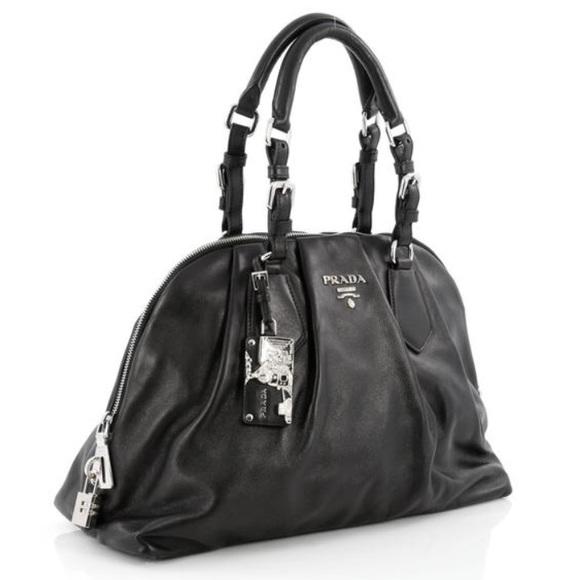 e49103826fc10c Prada Bags   Calf Skin Pleated Leather Bowler Bag   Poshmark