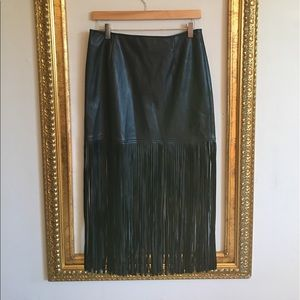 Trouve Dresses & Skirts - TROUVÉ Faux Leather Fringe Skirt from Nordstrom
