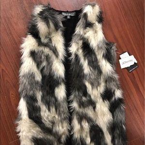 JC Penny Faux fur vest