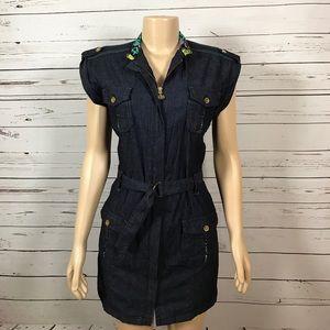 Ecko Unlimited Dresses & Skirts - EckoRed denim mini dress size medium