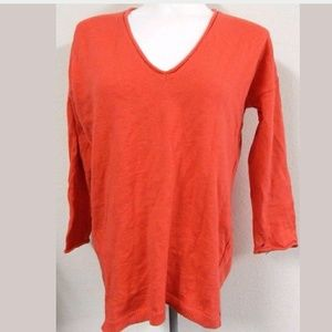 Madewell Orange Cotton Wool Sweater Top