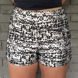 Do & Be Pants - Silver and black metallic shorts