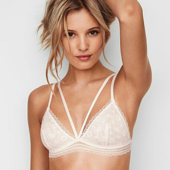 8026eb331f8b6 Victoria s Secret crochet lace triangle bralette. NWT