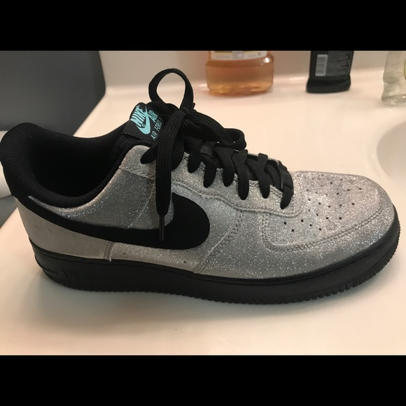 low priced e3d32 9f823 Nike af1 glitter and black