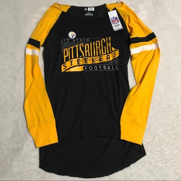 6ff5385eda5 NFL Tops | Nwt Small Pittsburgh Steelers Long Sleeve Tunic | Poshmark