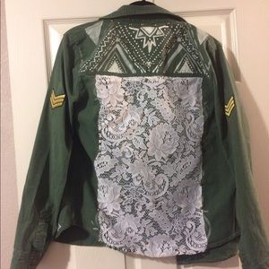 Spell & The Gypsy Collective Jackets & Blazers - Hand painted and designed military jacket
