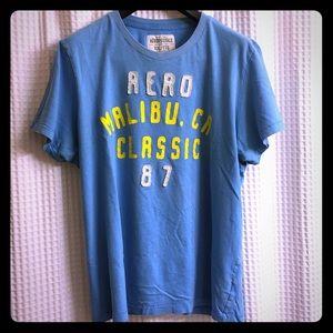 AEROPOSTALE T-Shirt, Men's XXL, Designer Blue Tee