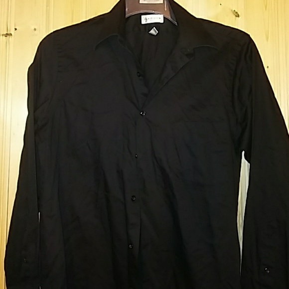 Van heusen mens black dress shirt size 15 from my new for Size 15 dress shirt