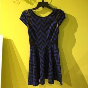 City Studio Dresses & Skirts - Black and Blue Striped Dress