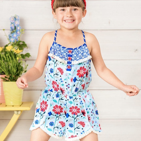 9a1d5b908c2 NEW Matilda Jane Tug of War Romper Size 6