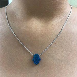 Jewelry - Hamsa opal necklace✨