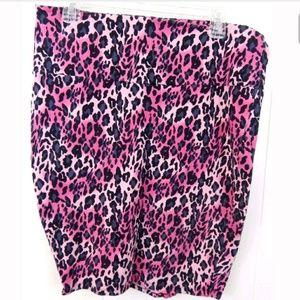 Torrid Pink Leopard Print Pink Bodycon Skirt