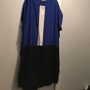 Eloquii Dresses & Skirts - Eloquii Colorblocked Shirt Dress