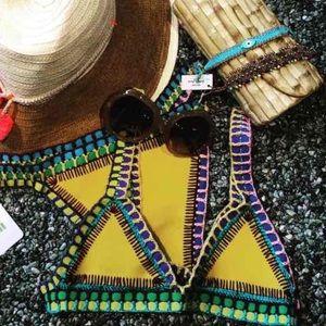 KIINI Other - Yellow crochet handmade biKINI
