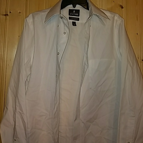 Stafford stafford white dress shirt size 15 from my new for Size 15 dress shirt