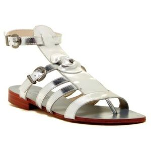 Australia Luxe Collective Shoes - NEW Australia Luxe Palm Silver Gladiator Sandal