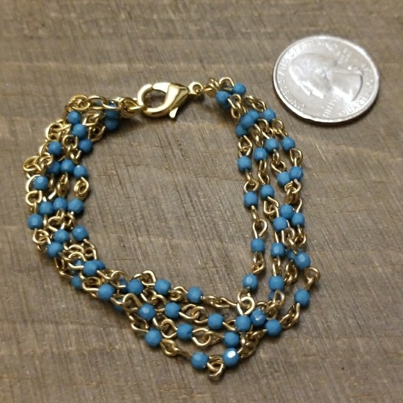 j bloom jewelry jbloom jbloom teal and gold 4 strand bracelet from 4214