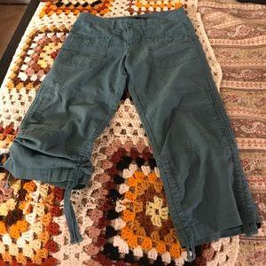 Prana Pants - Prana teal hiking capris