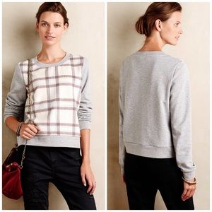 Anthropologie Sweaters - Anthropologie Saturday/Sunday Windowpane Sweater