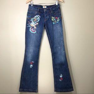 Antik Denim Denim - Antik Denim embroidered boot cut jeans size 28