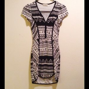 A3 Design Dresses & Skirts - Black And White Dress With Tribal Print