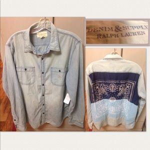 Denim & Supply Ralph Lauren Tops - Ralph Lauren sun faded  blue denim cotton shirt